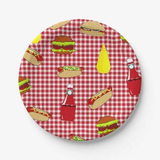 BBQ Picnic Happy Birthday Paper Plates