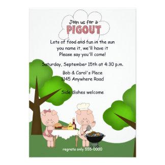 BBQ Pigout Invitation