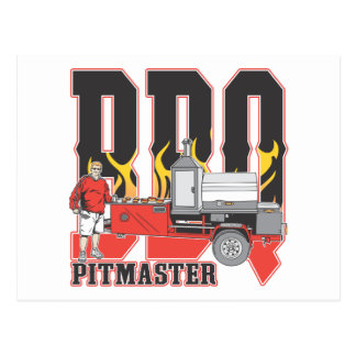 BBQ Pit Master Post Card