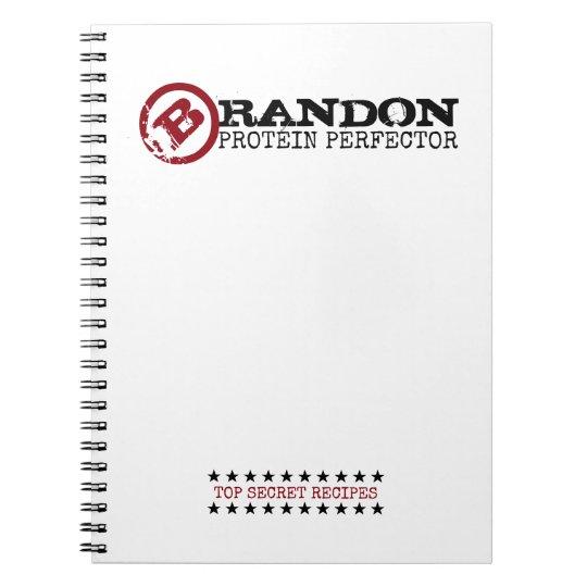 BBQ PROTEIN PERFECTOR Funny 'Top Secret' Recipe Notebook