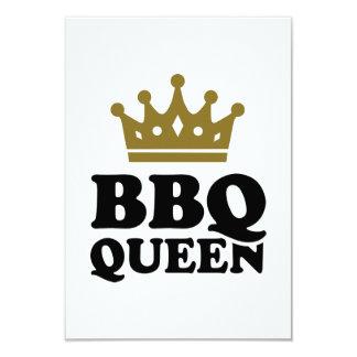 "BBQ Queen 3.5"" X 5"" Invitation Card"