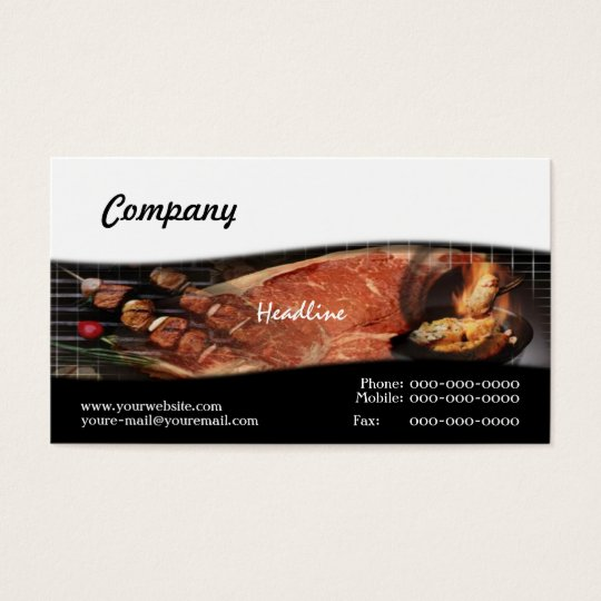 BBQ Recipes Business Card