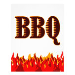 BBQ Red Flames Custom Flyer Template