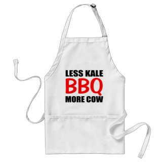 BBQ Saying, Less KALE More COW Standard Apron