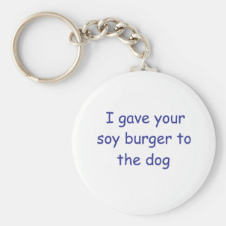 BBQ Soy Burger Key Chains