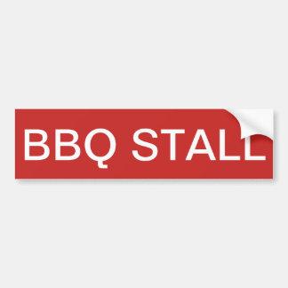 BBQ STALL Bumper Sticket Bumper Sticker