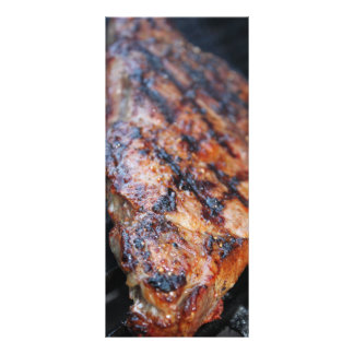 BBQ Steak 10 Cm X 23 Cm Rack Card