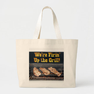 BBQ Steaks on the Grill Canvas Bag