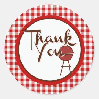 BBQ Thanks Round Sticker