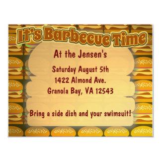 """BBQ Time! 4.25"""" X 5.5"""" Invitation Card"""