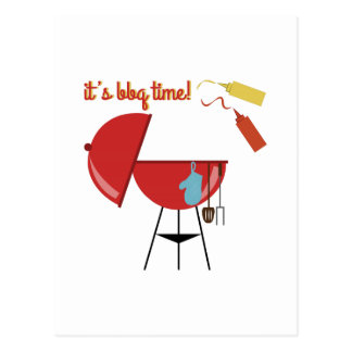 BBQ Time Post Card