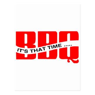 BBQ Time Postcards