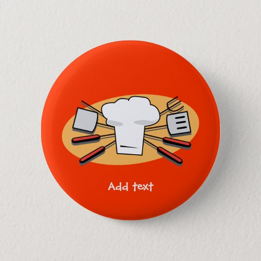 BBQ today pinback button template