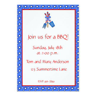 BBQ Utensils Invitation