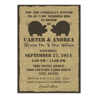 BBQ Wedding Reception Card