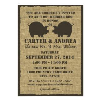 BBQ Wedding Reception Invites