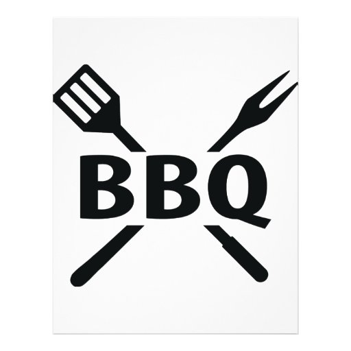 Bbq With Cutlery Icon Flyer Zazzle