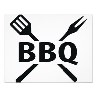 BBQ with cutlery icon Personalized Invite