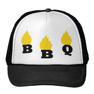 BBQ with flames icon Cap