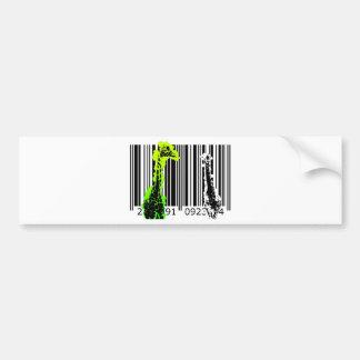 bc02 Bar Code Art Design Vector Fun Color Bumper Sticker