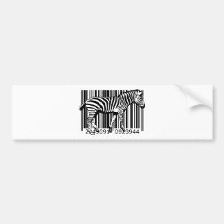 bc19 Bar Code Art Design Vector Fun Color Bumper Sticker