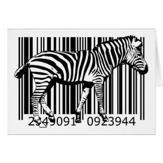 bc19 Bar Code Art Design Vector Fun Color X Greeting Card