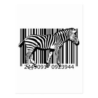 bc19 Bar Code Art Design Vector Fun Color X Postcard