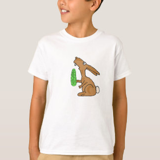 BC- Bunny Rabbit with a Pickle Shirt