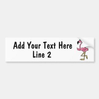 BC- Custom Pink Flamingo Bumper Sticker