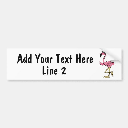 BC- Custom Pink Flamingo Bumper Sticker