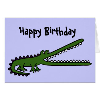 BC- Funny Crocodile Birthday Card