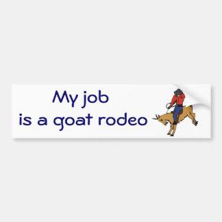 BC- Goat Rodeo Bumper Sticker