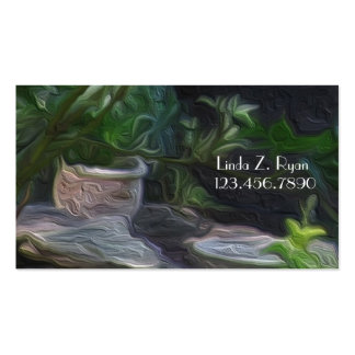 BC Pottery in a Lush Garden Business Card Template