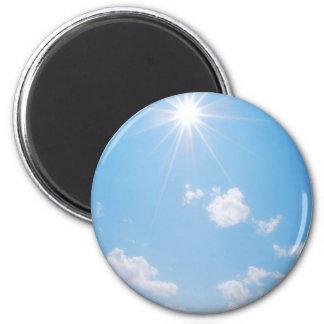 BC Rocky Mountain Sunlight 6 Cm Round Magnet