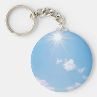 BC Rocky Mountain Sunlight Basic Round Button Key Ring