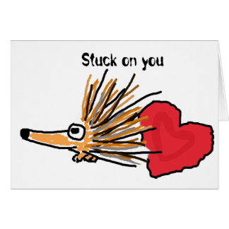 BC- Stuck on You Porcupine Card