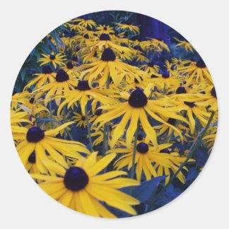 bc summer gardens4 round sticker