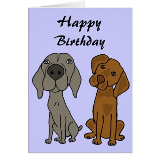 BC- Weimaraner and Pointer Birthday Cards
