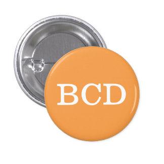 'BCD' Alphabet Collectible (#3) 3 Cm Round Badge