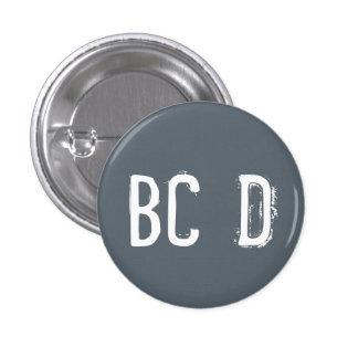 'BCD' Alphabet Collectible (#4) 3 Cm Round Badge