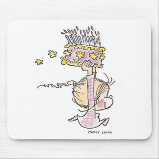 BD-001 Birthday Girl Running Mouse Mat