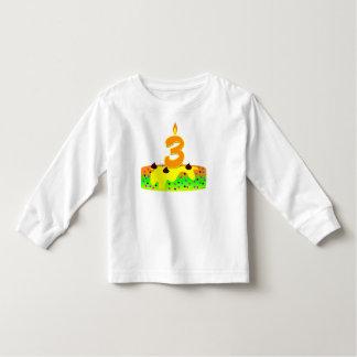 BD Cake Candle 3 Toddler T-Shirt