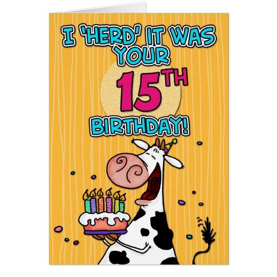bd cow - 15 card