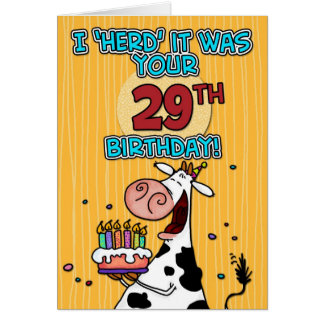 Twenty nine greeting cards zazzle bd cow 29 card bookmarktalkfo Images