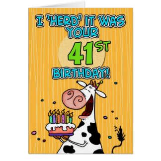 bd cow - 41 greeting card