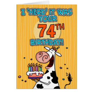 bd cow - 74 card