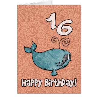 bd whale - 16 greeting card