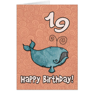 bd whale - 19 greeting card