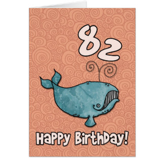 bd whale - 82 greeting card