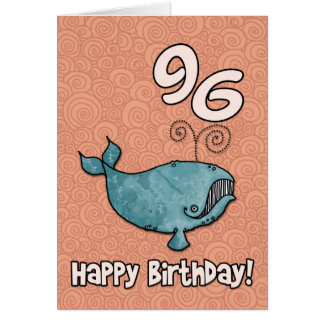 bd whale - 96 greeting cards